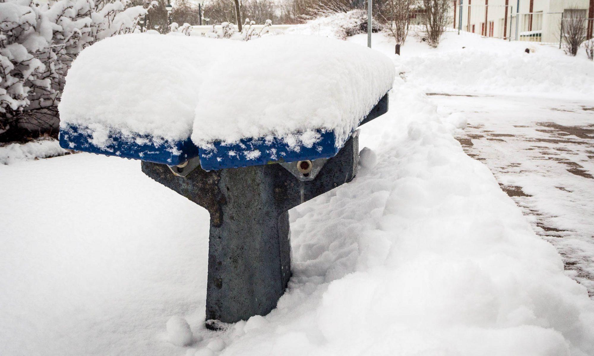Schnee sammeln